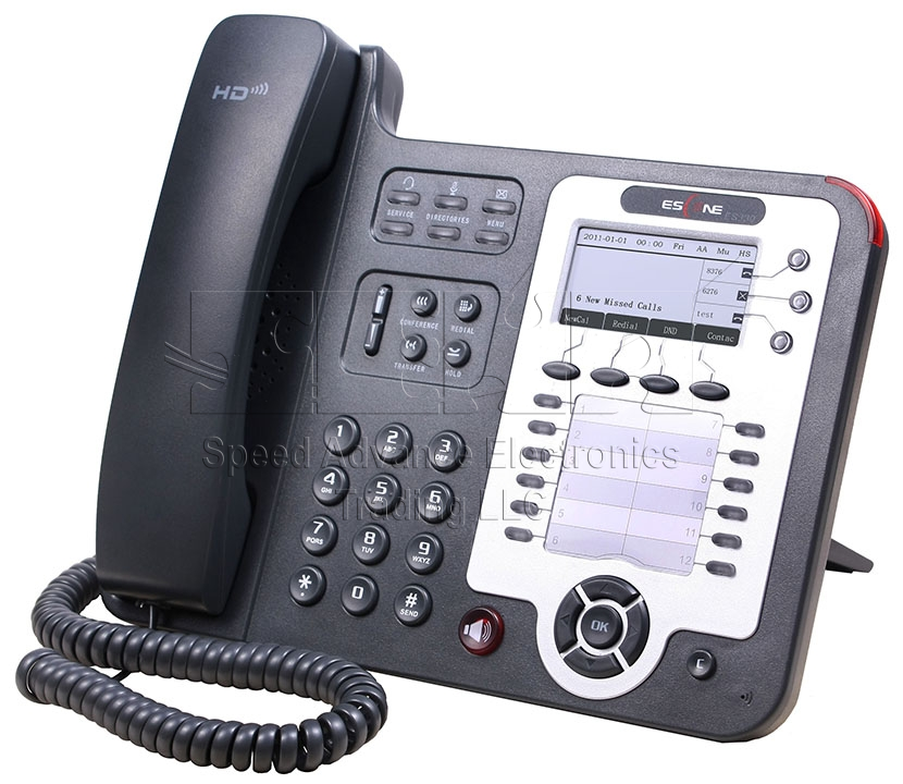 ES330-PEN IP Phone - Escene ES330-PEN Front-side view