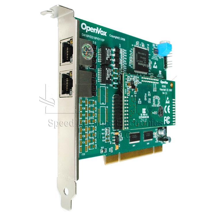 D210 Digital Card - OpenVox D210 2-E1 Digital PCI Card with Echo Canceller